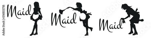 Fotografie, Obraz various silhouettes of maid