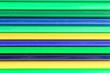 canvas print picture - Colored stripes. Textured stripes. Volumetric stripes.