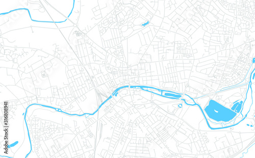 Bedford, England bright vector map Wallpaper Mural