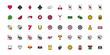 bundle of casino set icons