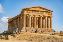 The Temple Of Concordia Is An Ancient Greek Temple In The Valley Of Temples In Agrigento