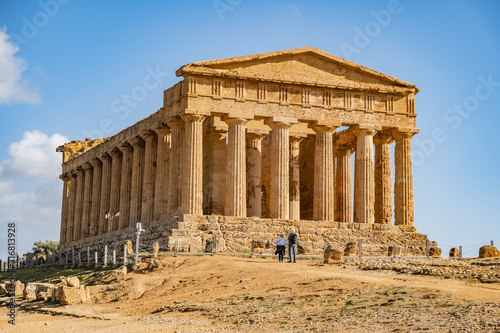 Fotografiet The Temple of Concordia is an ancient Greek temple in the Valley of Temples in A