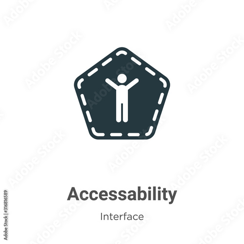 Photo Accessability glyph icon vector on white background