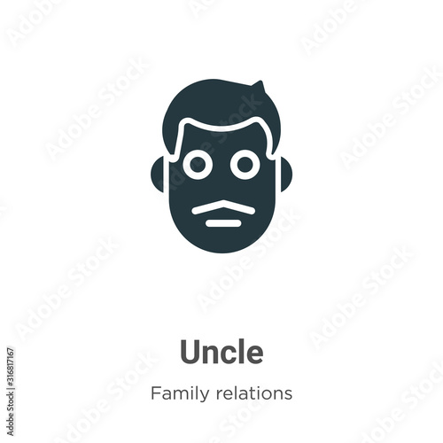 Photo Uncle glyph icon vector on white background