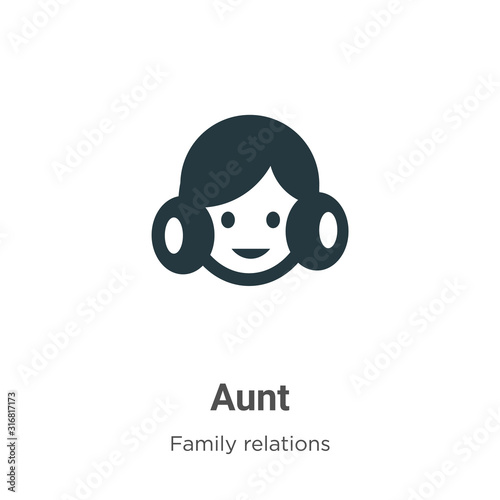 Photo Aunt glyph icon vector on white background