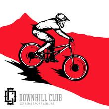 Vector Downhill Mountain Bikin...