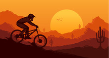Vector Downhill Mountain Bikin...