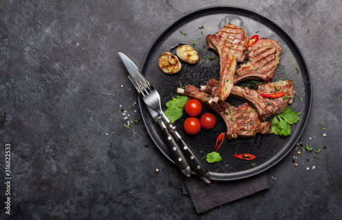 Grilled lamb ribs Obraz na płótnie