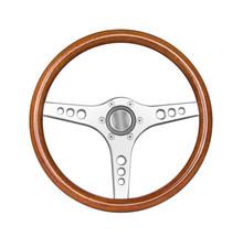 Sport Steering Wheel Isolated On White