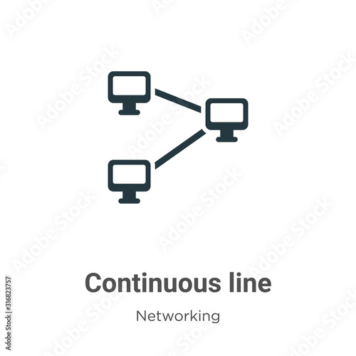 Fényképezés Continuous line glyph icon vector on white background