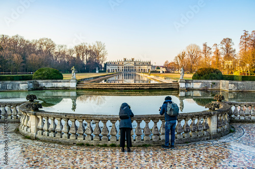 Winter view on the park of Villa Pisani in Stra, Venice - Italy Fototapet