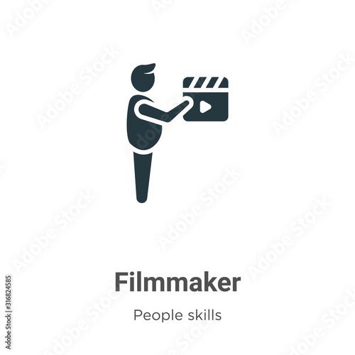 Fototapeta  Filmmaker glyph icon vector on white background