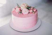 Beautiful Delicious Pink Cake ...
