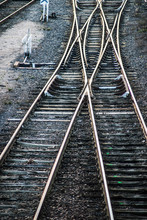 Closeup Of Railways Crossing I...