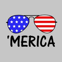 Patriotic Merica Sunglasses  Independence Day