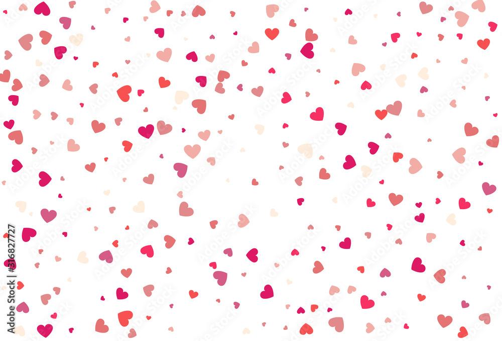 Fototapeta Heart confetti of Valentine's petals. Beautiful Confetti Hearts
