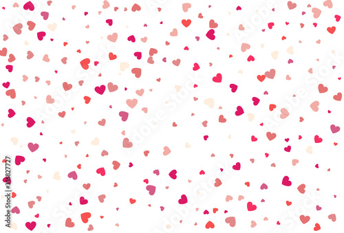 Obraz Heart confetti of Valentine's petals. Beautiful Confetti Hearts - fototapety do salonu