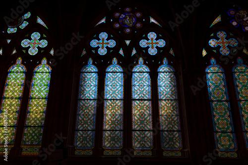 stained glass window Fototapet