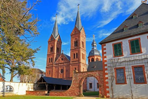 Leinwand Poster Klosterkirche und Dom in Seligenstadt, Deutschland