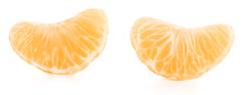 Tangerine Slices Isolated On W...