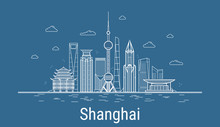 Vector Shanghai City. All Shan...