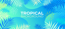 Neon Tropical Fluid Background...