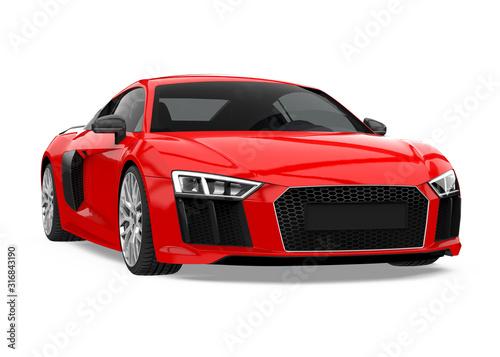 Fotografia Sport Car Isolated