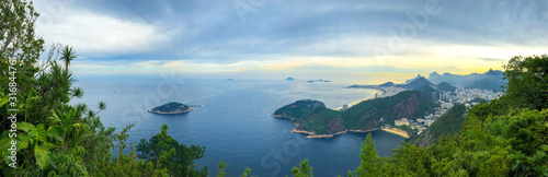 Rio De Janeiro Amazing View, SugarLoaf Mountain, Evening Clouds, Sunset Wallpaper Mural