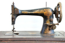 Old Singer Sewing Machine Isol...