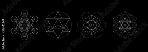 Mystical sacred geometry vector symbos set Fototapete