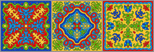 Set Of Bright Colored Mosaic T...