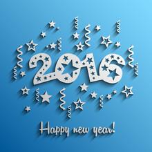 2016 Happy New Year Modern Vec...