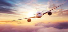 Commercial Airplane Flying Ove...