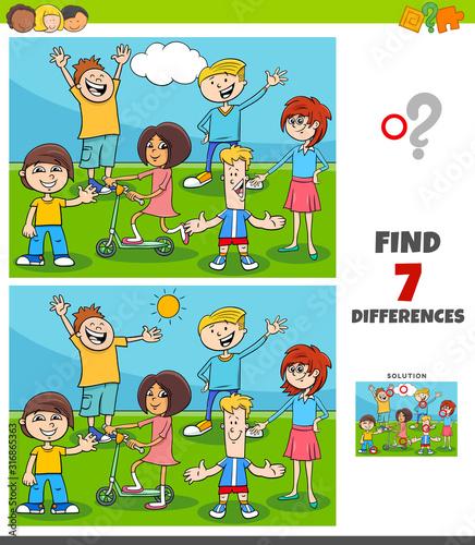 gra różnice z grupą dzieci i młodzieży