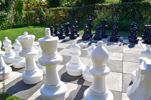 Photo chess on white background