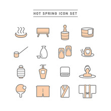 HOT SPRING ICON SET