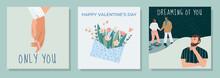 Set Of Cute Romantic Postcards...