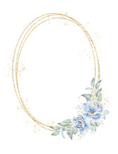 Triple Oval Floral Border Hand...