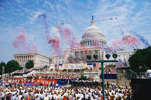 Fotografia, Obraz Celebration at the Capitol building, Washington, DC