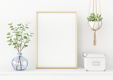 Interior Poster Mockup With Ve...