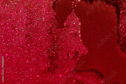 glitter with gel background