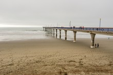 Scenery Of The Christchurch Pier At New Brighton Beach, New Zealand