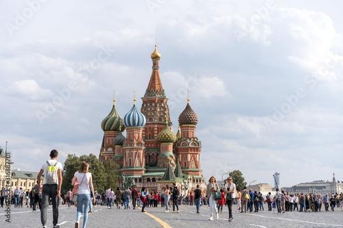 Moscow Illustration Canvas Print