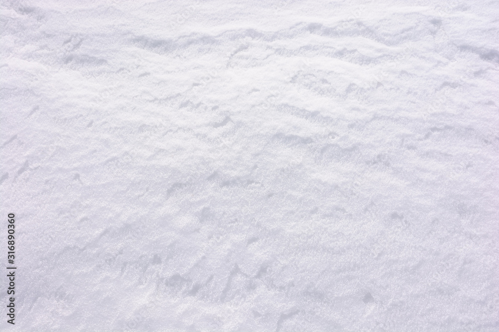 Fototapeta natural snow white texture. bright winter background. cold frosty weather condition. shining and glittering particles