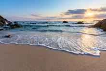 Sunrise On The Beach. Beautifu...