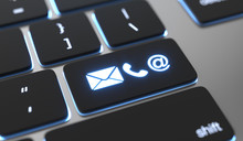 Contact Icons On Keyboard Butt...