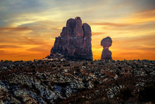 Sunset Over The Rock Formation...