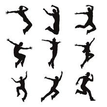 Contemporary Male Dancer Silho...