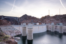 Hoover Dam In Nevada And Arizo...