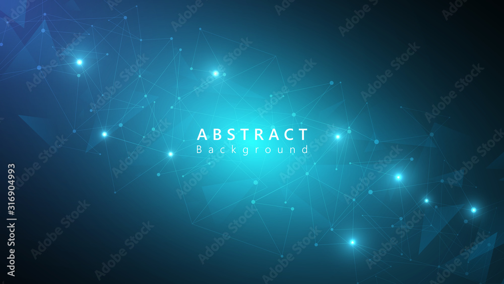 Fototapeta blue abstract connection technology cyberspace background,modern tech background,futuristic connection data,speed data transfer